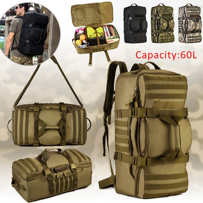 Litthing 60L, bolsa para senderismo y montañismo para hombre/mujer, Mochila Táctica Militar, impermeable, 2020, bolsa de viaje al aire libre, mochila de Camping
