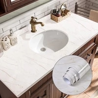 5m marble vinyl film waterproof self adhesive stickers for bathroom kitchen cupboard countertops contact pvc wall papers sticker