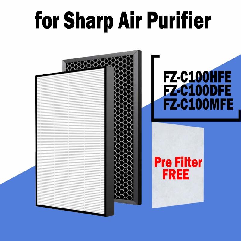 sharp air purifier filter kc a50jw kc a51r b hepa filter fz a51hfr actived carbon filter fz a51dfr filter for humidifier parts Ture HEPA Filter FZ-C100HFE Deodorizing Filter FZ-C100DFE Humidifying Filter FZ-C100MFE for Sharp Air Purifier KC-850, KC-C100E