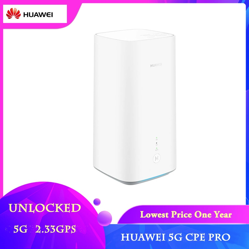 English Version Unlocked Huawei 5G CPE Pro H112-372 Wireless CPE Router Support 5G n41/n77/n78/n79
