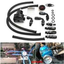 Régulateur de pression de carburant réglable   Universel Racing Kit de jauge de jauge de 100psi ligne dhuile, AN6 fin de tuyau dhuile pour BMW Cooper R53