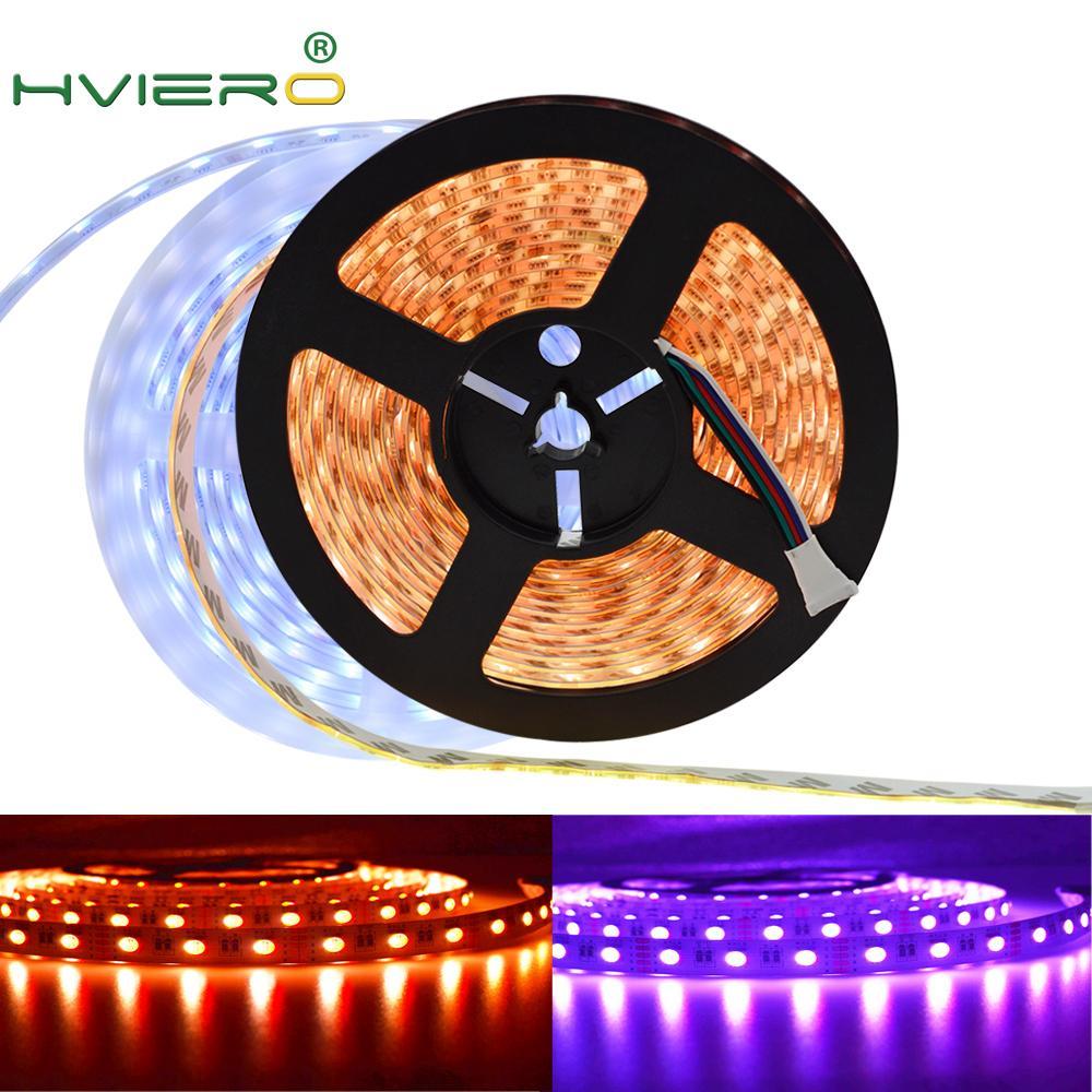 5m RGB White RGB Warm LED Strip Home Light 5050 DC 12V Flexible LED Light RGB+White /RGB+Warm White Diode Tape Rope 60 LEDs/m