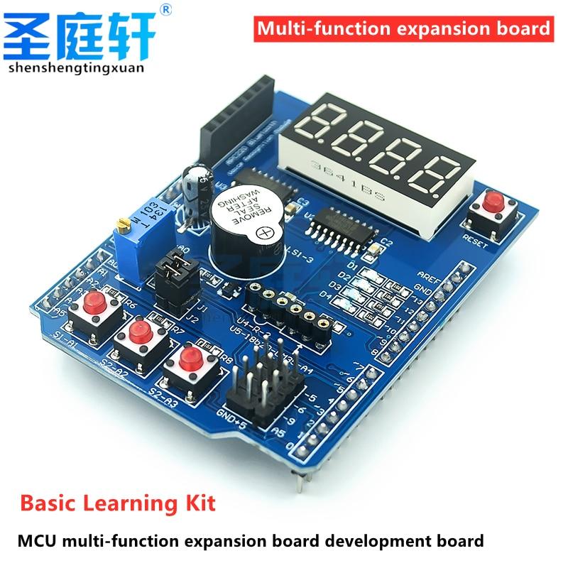 Arduino multifunctional expansion board basic learning kit single-chip microcomputer development board