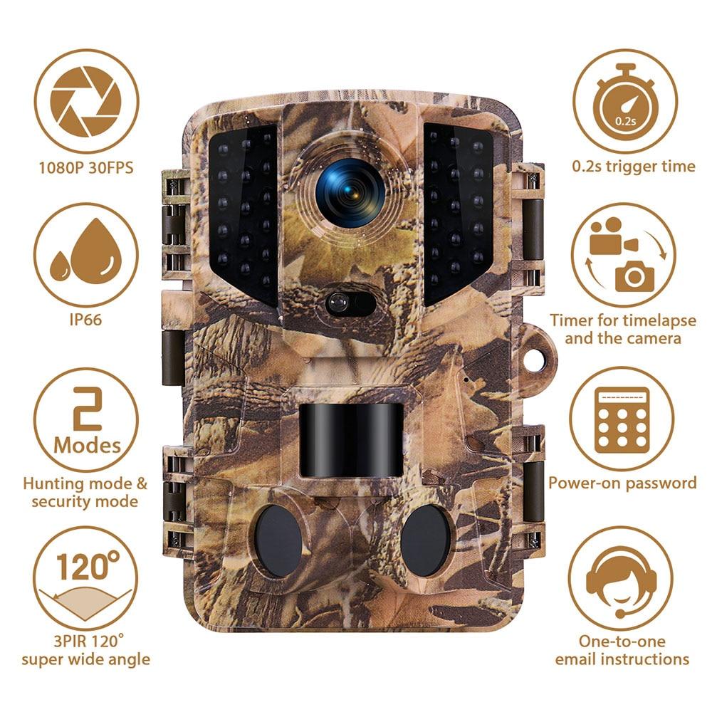 Hunting Trail Camera 20MP 1080P HD Infrared Wildlife Cameras Night Vision Outdoor Wild Surveillance Cam 0.2 Trigger Photo Traps