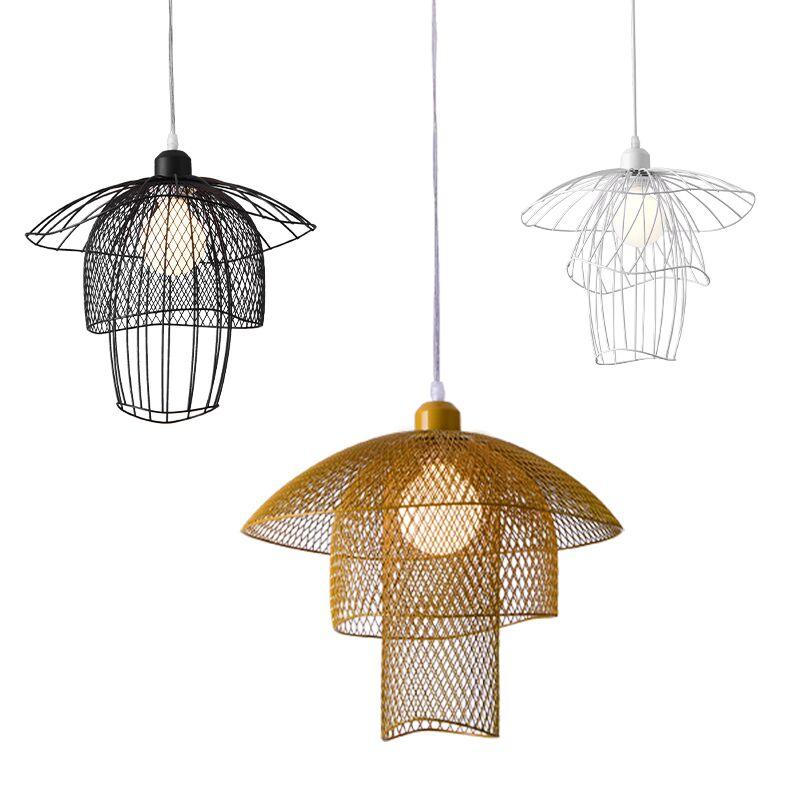 مصباح معلق Led للتنورة ، تصميم شمالي بسيط ، متوفر باللونين الأبيض والأسود والذهبي ، إضاءة زخرفية داخلية ، مثالي لغرفة النوم.