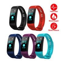 Умный Браслет Y5 с Bluetooth, цветным экраном, пульсометром, монитором кровяного давления, спортивный фитнес-браслет с Шагомером