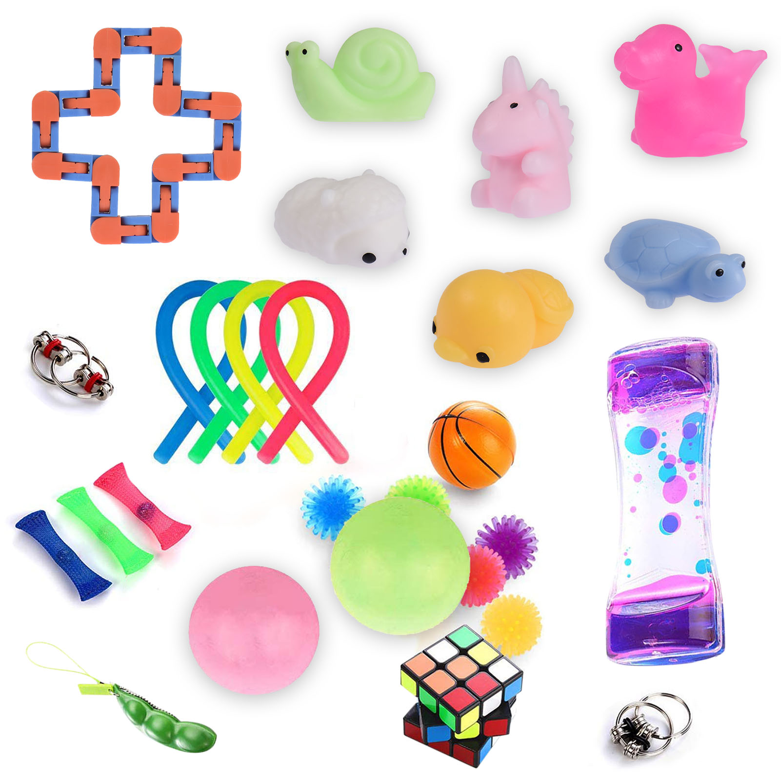 28 Pack Fidget Sensory Toys Set Sensory Fidget Toys Set Stress Anxiety Relief Sensory Toy Figet Toys Anti Stress Toy Set enlarge