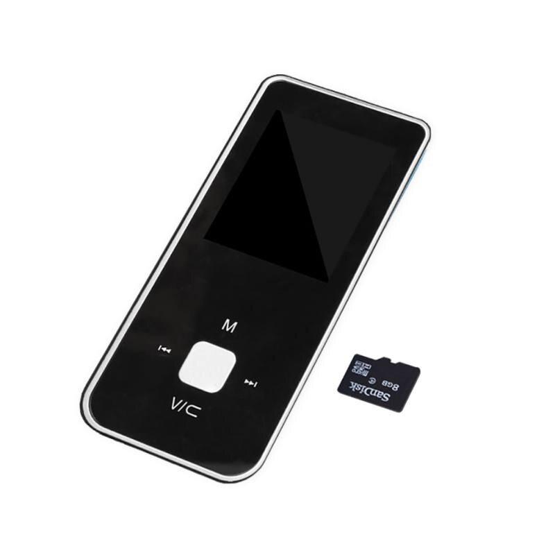 Mini reproductor de MP4 portátil, con botón, reproductor de vídeo mp4 Ultra delgado de 1,8 pulgadas, soporta tarjeta TF, E-book, Radio FM