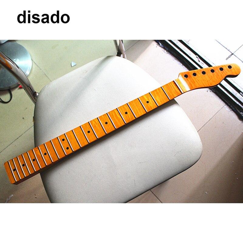 Disado 21 22 24 Лады одна штука Тигр Пламя клен электрогитара Шея желтая глянцевая краска аксессуары для гитары