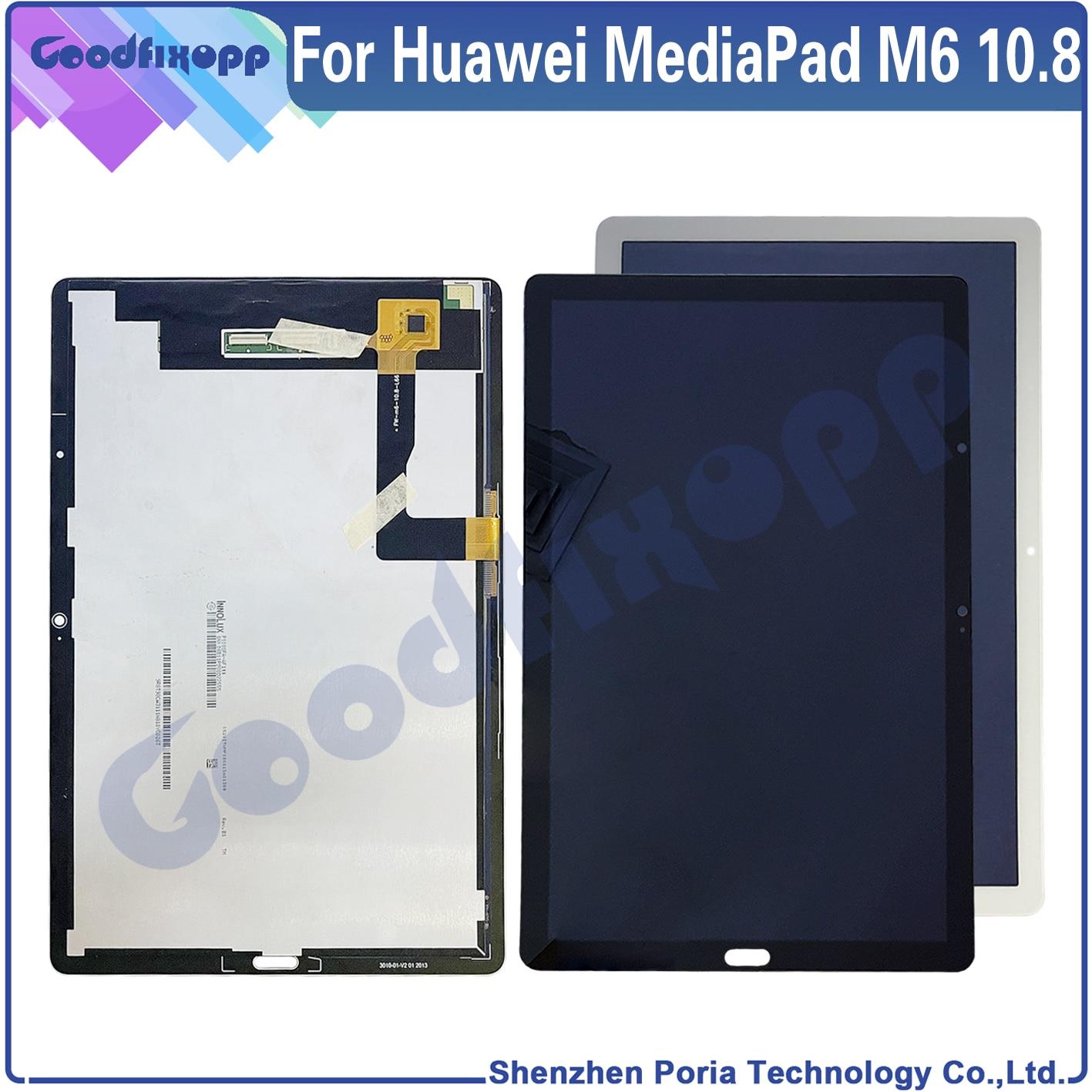 100% اختبار AAA لهواوي MediaPad M6 10.8 LCD عرض تعمل باللمس محول الأرقام الجمعية استبدال أجزاء