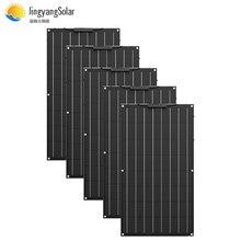 500w panel solar etfe flexible panel solar igual 5 uds 100w 12V carga de la batería 24v SISTEMA DE cargador de kits