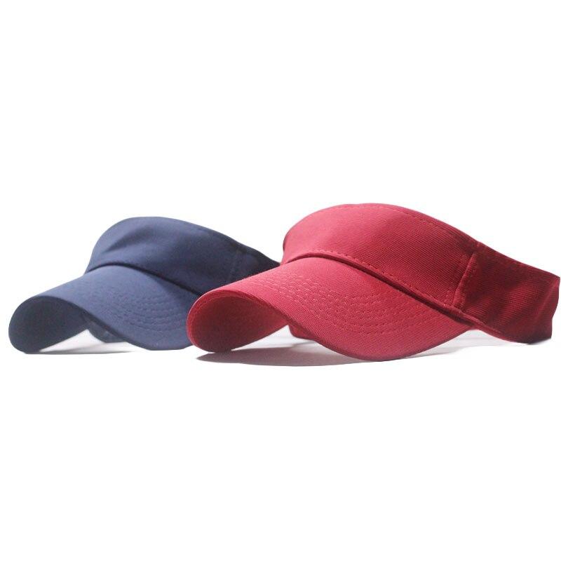 Summer Sun Visor Cap Women Tennis Golf Empty Top Baseball Caps Solid Color Sporty Style Sunscreen Hat Adjustable Sun Cap For Men