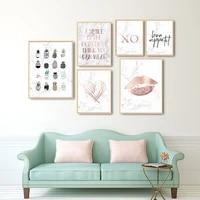 Affiche de mode avec citations dananas de style nordique  peinture murale  decoration pour la maison