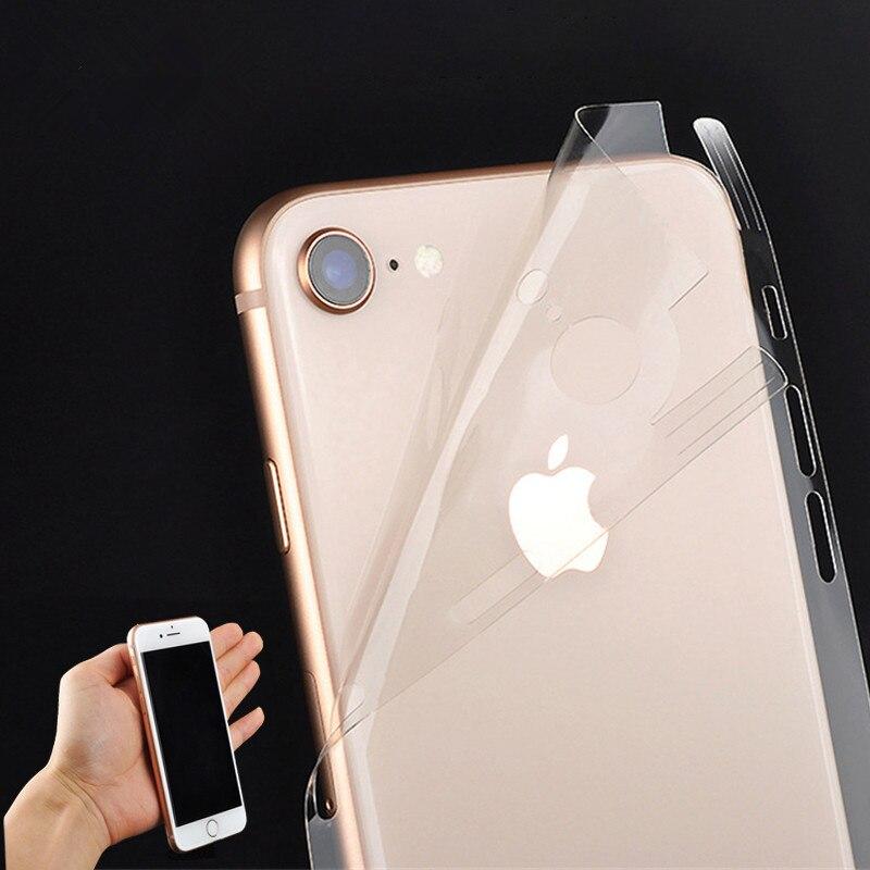 Capa para iphone x xr xs max filme de gelo para o iphone 11 pro max capa de capa de capa de pele decalque transparente de corpo inteiro