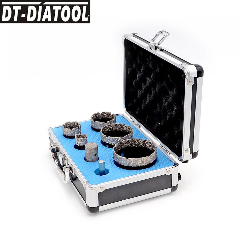 DT-DIATOOL 1set boxed 20/32/45/55/68MM Diamond Hole Saw Cutter Drill Core Bits Sets M14 connection  for Porcelain Tile Ceramic
