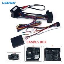 LEEWA автомобиля 16Pin Мощность жгут проводов кабеля адаптера с Canbus для BMW X3/E83(06 10) Установите Aftermarket Android стерео # CA6729