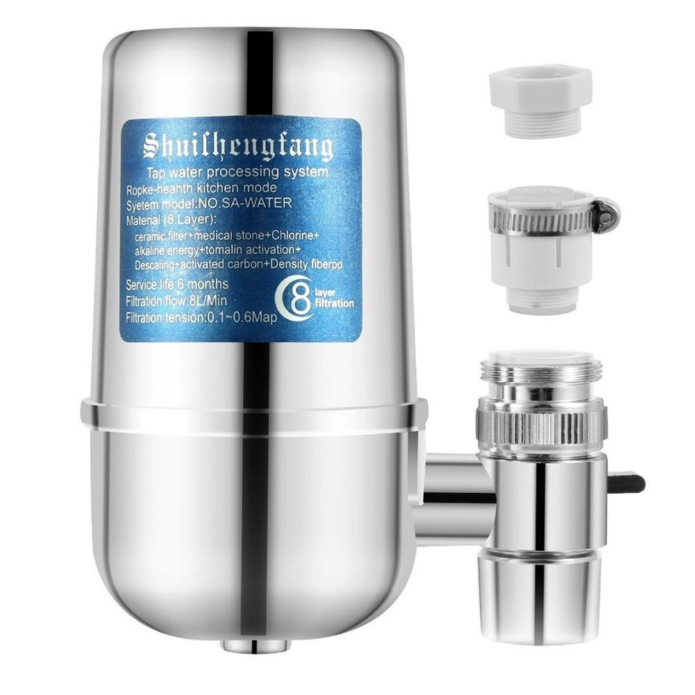 8 capas multifunción Acero inoxidable antioxidante cocina casera práctica grifo purificador Fácil instalación grifo filtro de agua Universal