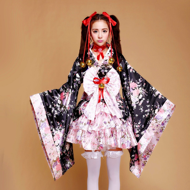 Kimono Haori japonais Yukata Vintage court avec Obi Cosplay femmes robe Cosplay 5styles