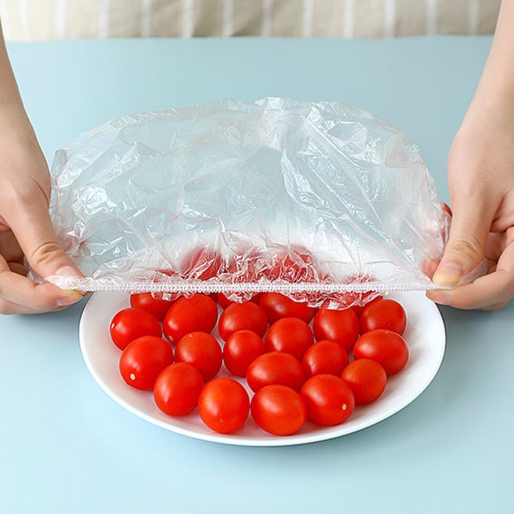 100 шт. многоразовые пищевые пакеты, пакеты для мисок, эластичная тарелка, силиконовые крышки, вакуумные пакеты для кухни, свежие пищевые запа...