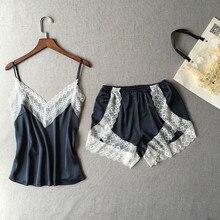 2 piezas Lencería mujer Sexy camisón para dormir conjunto de ropa interior