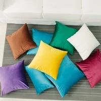 solid colors velvet linen cotton cushion case square pillowcase for living room home decor bedroom decorative sofa car