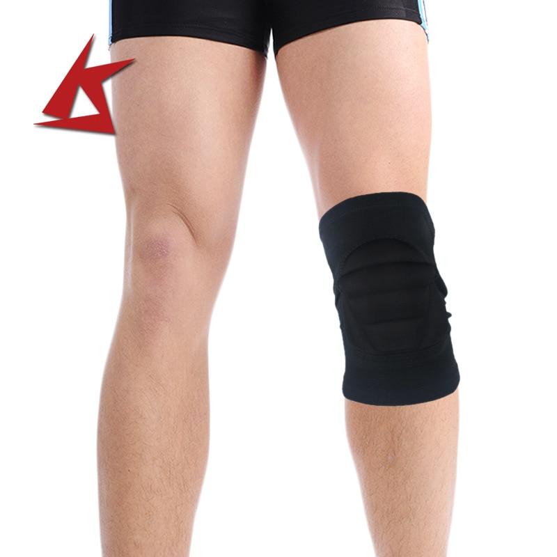 Rodillera de esponja gruesa anticolisión ultraelástica transpirable hilera de Montañismo cesta rodillera deportiva