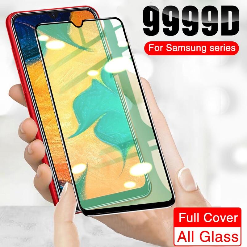 9999D Full Cover Protective Glass On Samsung A50 A70 A51 A71 A30 A20 A10 Screen Protector For Samsun