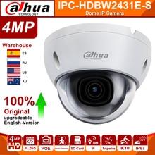 Dahua Originele IPC-HDBW2431E-S 4MP Hd Poe Sd Card Slot H.265 IP67 IK10 30M Ir Starlight Ivs Wdr Upgradeable Mini dome Ip Camera