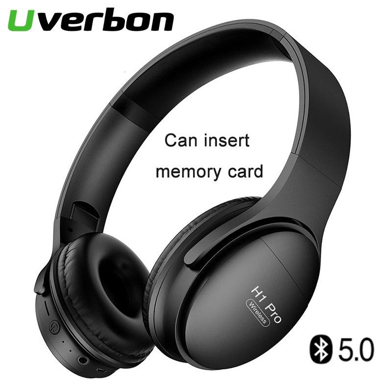 H1Pro auriculares inalámbricos Bluetooth con cancelación de ruido auriculares estéreo deportivos compatibles con tarjetas de memoria auriculares Bluetooth adaptador de teléfono