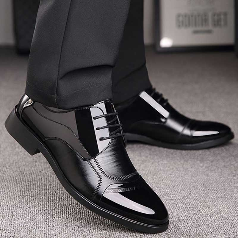 mocassins zapato mocassins Men Leather Shoes  Business Luxury Oxford Shoes Breathable Rubber Formal Dress Shoes Male Office Party Wedding Shoes Mocassins
