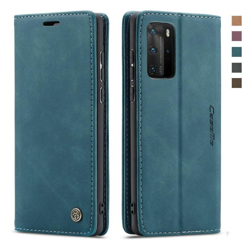 Cartera de lujo de cuero 360 protectora para Huawei P40 Lite Funda con tapa tarjeta Funda Huawei P40 Pro Funda P 40 P40Lite P40Pro Plus