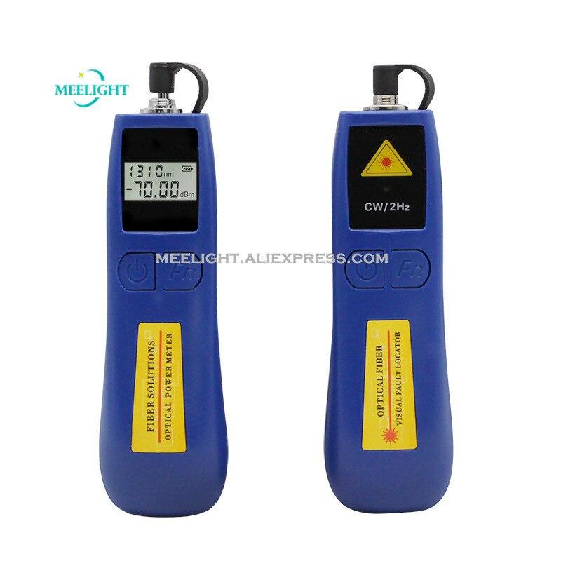 1 conjunto/2 pces alta precisão medidor de potência óptica caneta luz vermelha operação fibra óptica e manutenção de 10 mw ftth