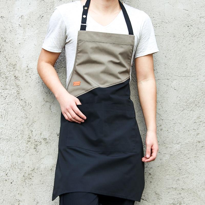 Delantal de cocina sólido caliente para hombre y mujer, accesorio para Chef,...