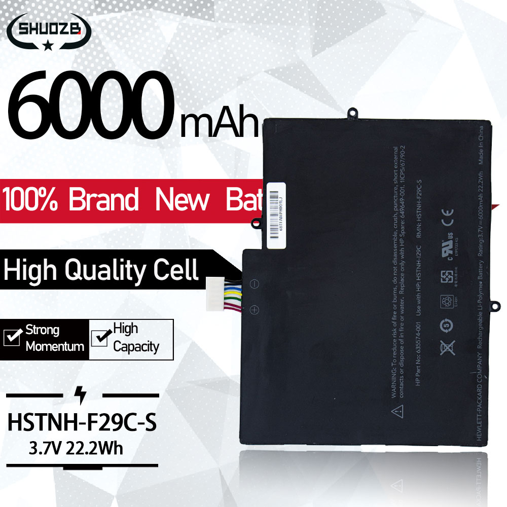 Laptop Battery NSTNH-F29C-S FOR TouchPad 10 HSTNN-S29C-S HSTNH-I29C 649650-001 649649-001 635574-002 635574-001  6000mAh 22.2Wh