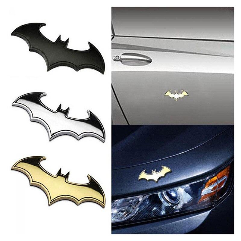 2 шт. 3D Автомобильные наклейки металлическая летучая мышь Автомобильный логотип Стайлинг автомобиля металлический значок летучая мышь нак...