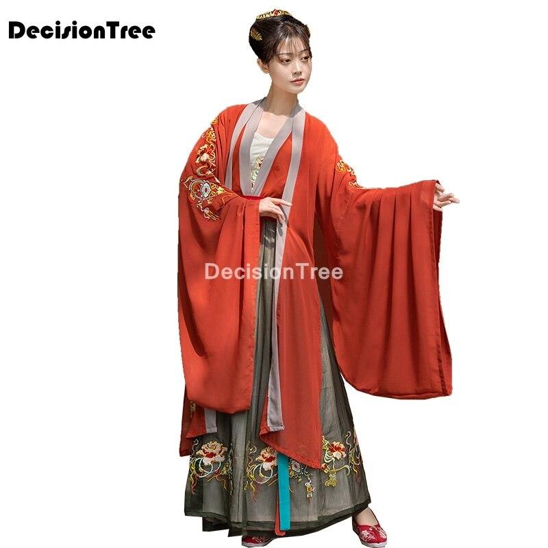 زي هانفو الخيالي الصيني العتيق ، 2021 ، بدلة تانغ ، فستان شعبي للنساء ، ملابس مهرجان الأميرة ، زي رقص