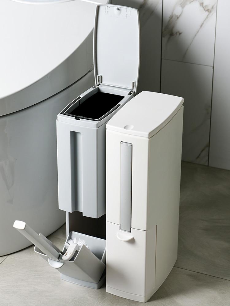 Nordic Bathroom Waste Bin Cover Creative Waterproof Plastic Cute Simple Trash Can Toilet Kosz Na Smieci Household Products 50 enlarge