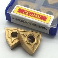 10pcs wnmg080404 hm bp010 wnmg 431 carbide cnc inserts lathe turning inserts