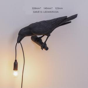 Auspicious Bird Wall Lamp Nordic Design Creativebedroom Reading Decoration Led Wall Light Sconce Indoor Lighting Bedroom Lamp