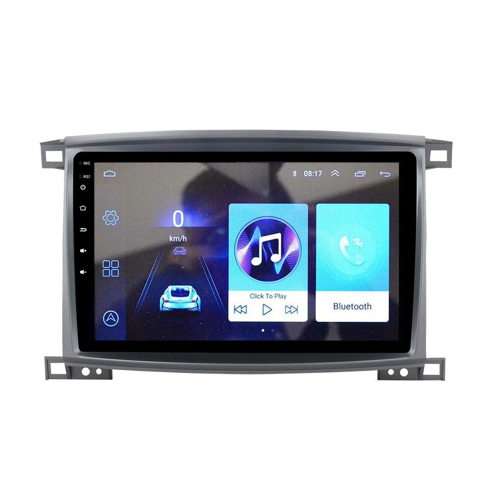 مشغل أندرويد للسيارة بشاشة مقاس 9 بوصات مزود بكاميرا عكسية وراديو فيديو للرؤية الخلفية BT متوافق مع لاند كروزر lc100 2003 09