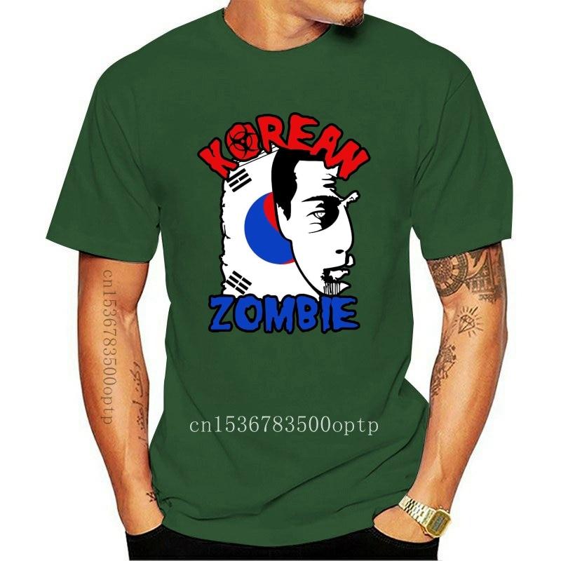 New 2021 The Korean Zombie - Chan Sung Jung Black T-Shirt T-Shirt fashion 2021 Tees Tshirts Novelty O-Neck Tops 80S T Shirts