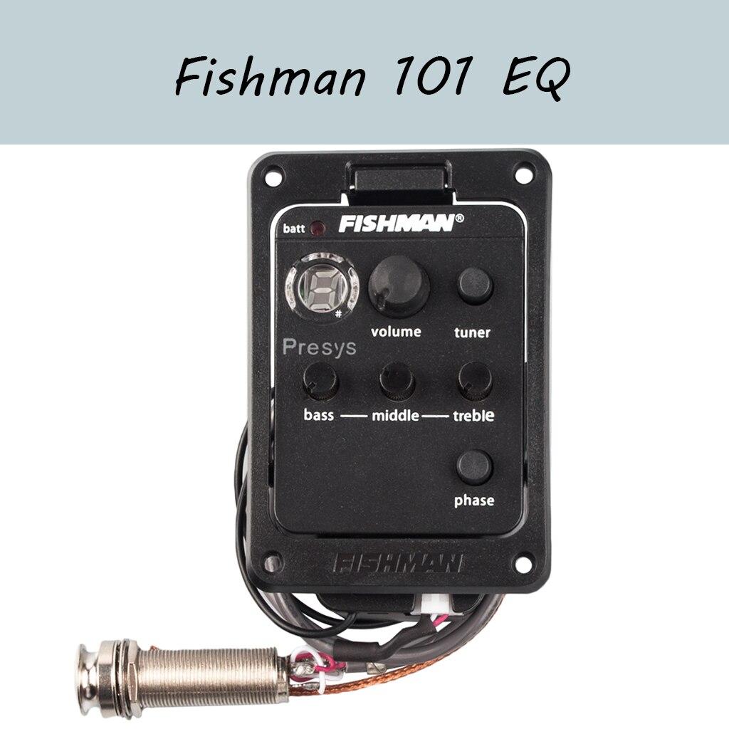acoustic guitar pre wired preamp 5 band eq tuner piezo pickup Fishman Presys 101 AERO Guitar Pickup Preamp EQ Tuner Piezo Equalizer System