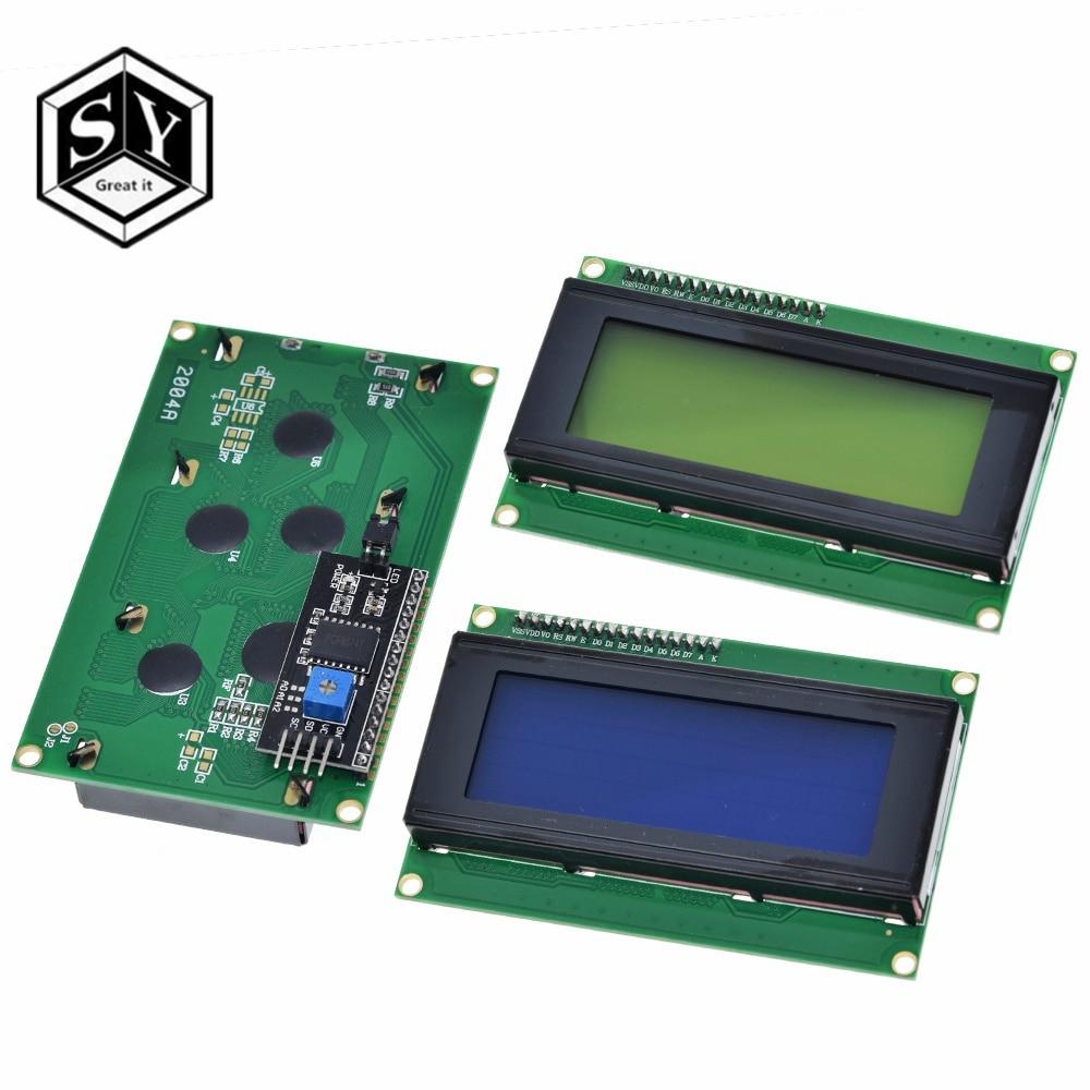 1PCS LCD2004+I2C 2004 20x4 2004A blue screen HD44780 Character LCD /w IIC/I2C Serial Interface Adapter Module For Arduino Module