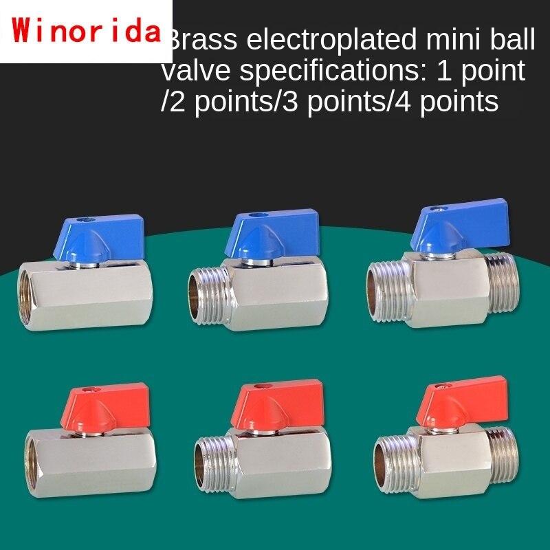 Мини шаровой кран 1/8 IN 1/4 3/8 1/2IN, мини 1/2 DN6 8 10 15, переключатель клапана, пневматические аксессуары