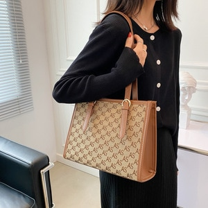 Fashion Letter Printed Canvas Shoulder Bag For Women Large Capacity Travel Tote Bags Female Purses and Handbags 2021 Trend Brand