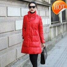 Veste en cuir véritable femmes en peau de mouton Ducl vers le bas manteau dhiver femmes coréen veste femmes vêtements 2020 Chaqueta Mujer MQ007 YY1005