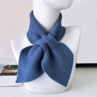 2020 new elegant vintage knit winter scarf for women unisex crochet neck warmer soft scarves shawl and wraps female scarves