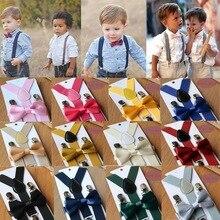 Kids Suspenders with Bowtie Fashion Children Bow Tie Set Boys Braces Girls Adjustable Suspenders Bab