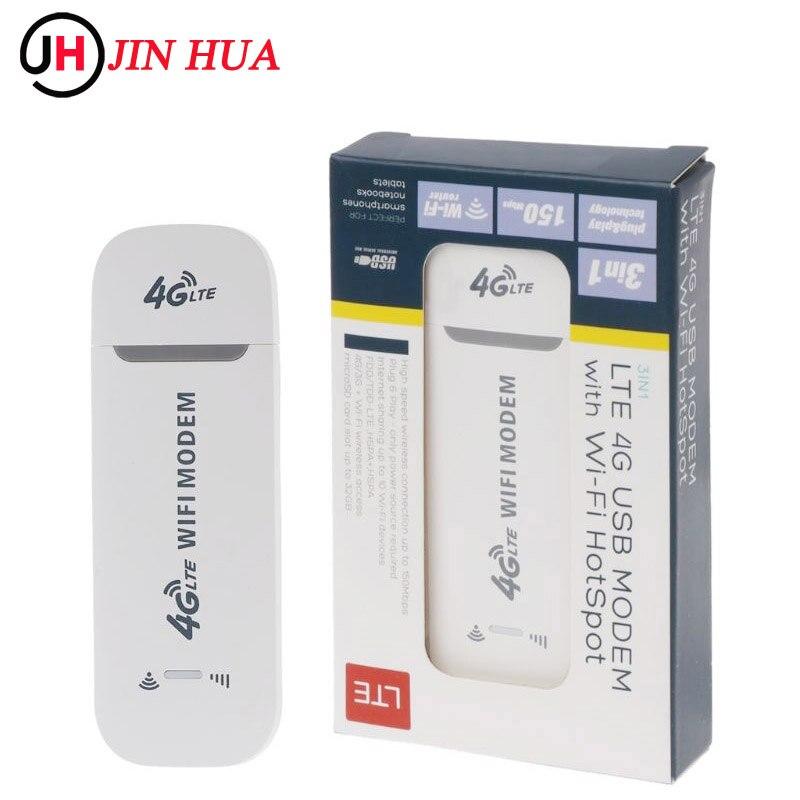 الجيل الثالث 3G/4G راوتر 100Mbps USB عصا مودم لاسلكي واسع النطاق واي فاي المحمول هوت سبوت LTE فتح ونجل دونغل FDD شبكة التردد