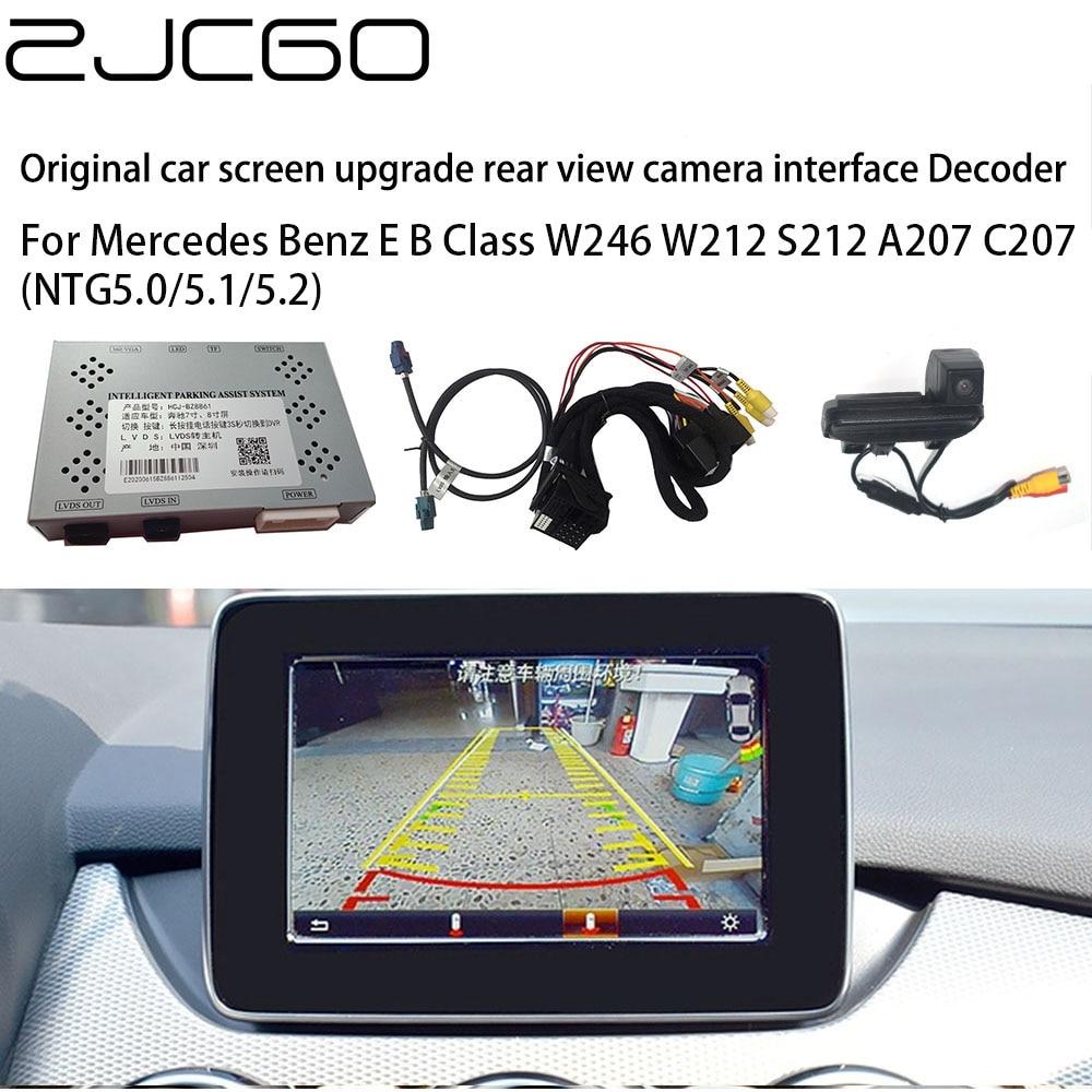 ZJCGO-كاميرا خلفية خلفية للسيارة ، محول واجهة صندوق فك التشفير الرقمي لمرسيدس بنز الفئة B W246 W212 S212 A207